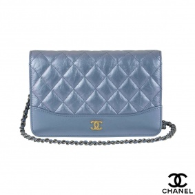 Chanel Iridescent Blue WOC
